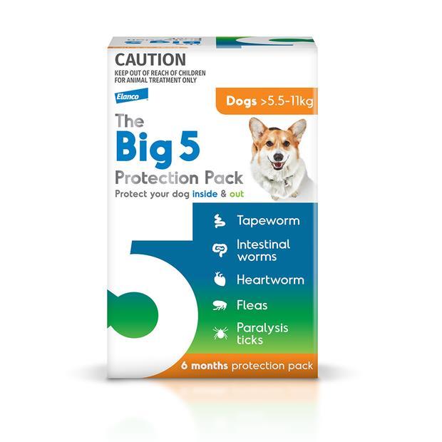the big 5 protection pack medium dog  6 pack   The Big 5 dog Flea&Tick Control   pet supplies  Product...