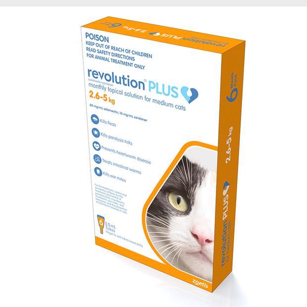 revolution plus orange medium cat  3 pack | Revolution cat Flea&Tick Control | pet supplies| Product...