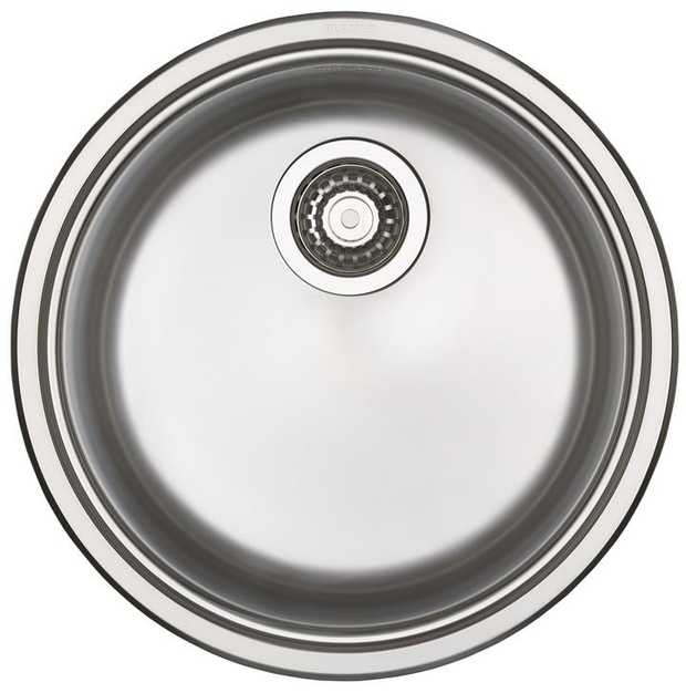 23L Bowl Capacity Elegant Round profile Integrated Overflow Polyethylene Seal Sink clips applied 18/10...