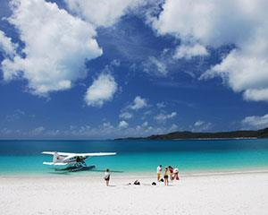 Visit the famous Whitehaven Beach in style - by seaplane! This is the only way to see the Whitsunday...