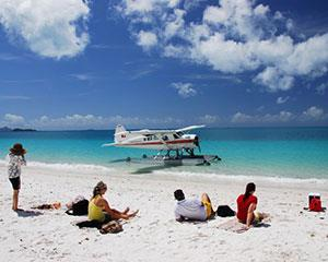 Land gracefully at an area of Whitehaven Beach with few or no other visitors where you are free to...