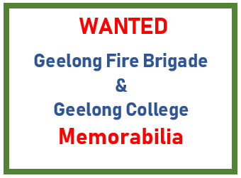 GEELONG FIRE BRIGADE MEMORABILIA   