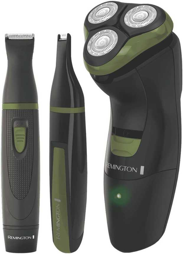 * Rotary Shaver  Personal Groomer  Nose and Ear Trimmer* Stainless Steel Blades* Cordless* Washable...