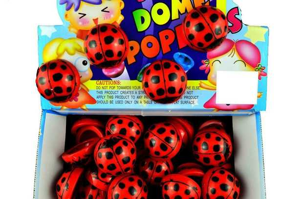 Lady Bug Dome Popper 4.5Cm- Assorted