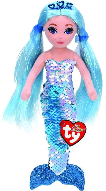 Sea Sequin Medium Indigo Blue Mermaid