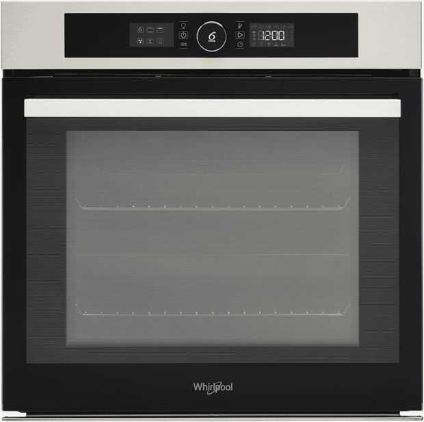 This Whirlpool oven is a conventional oven and features a stainless steel finish and is electric...