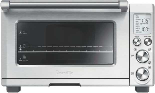 Prep foods without using your regular oven with this benchtop Breville toaster oven's 22 litre...