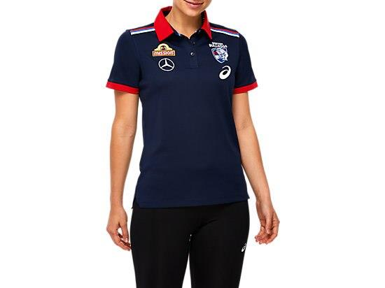 The WESTERN BULLDOGS REPLICA MEDIA POLO is made from soft cotton poly pique knit fabric. This polo...