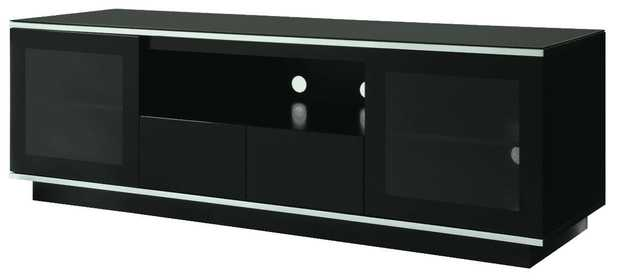 Semi gloss black. 1800 W x 550 D x 600 H (mm). Cable management system. 1 year warranty.