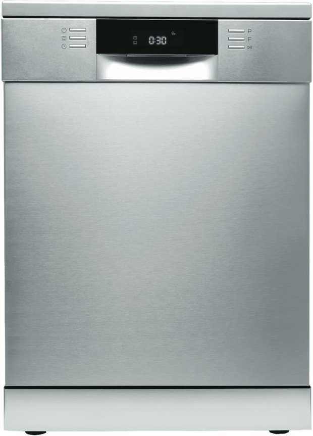 Clean many dishes with this DeLonghi dishwasher's 15 place setting capacity. It has a 5 star WELS water...
