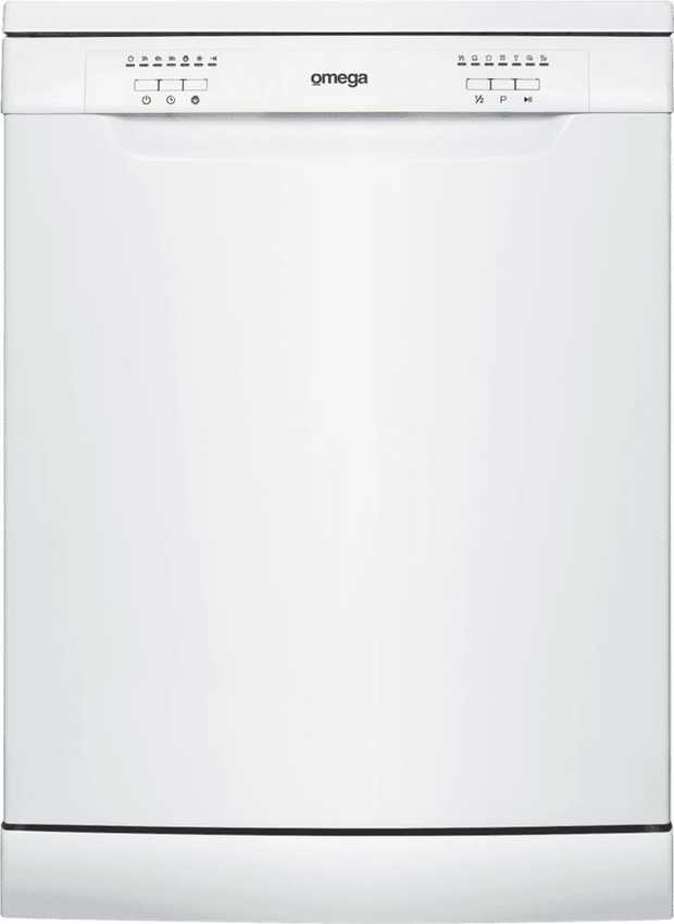 Effortlessly have your dishes cleaned with this white Omega 60cm Freestanding Dishwasher ODW600W...