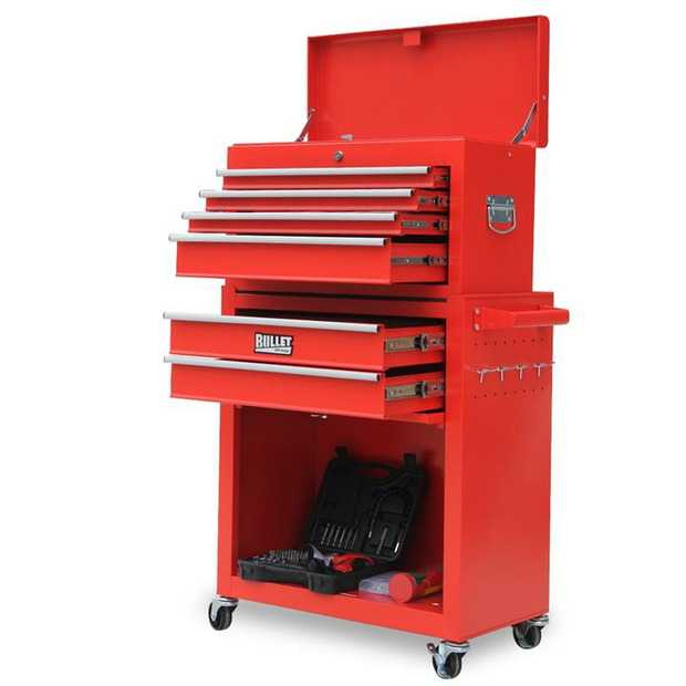 The Bullet 1100 Piece Tool Cabinet Trolley with Tool Chest is the ideal storage solution for all your...