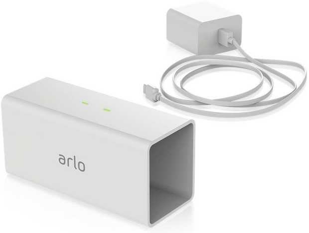Designed for Arlo Pro security cameras Charges up to two batteries simultaneously 1x Charging station...