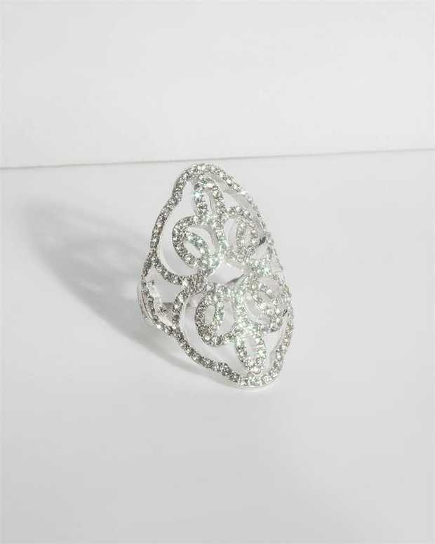 Part of our Sparkle collection Make a fashion statement with our stunning rings. This diamante pave...