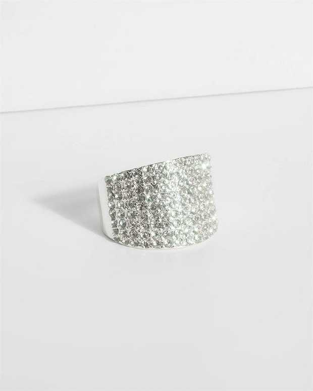 Part of our Sparkle collection Make a fashion statement with our stunning rings. This diamante cocktail...