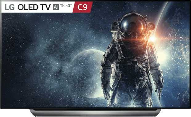 Experience incredible detail and amazing clarity on this 77-inch LG C9 4K UHD Smart OLED TV...