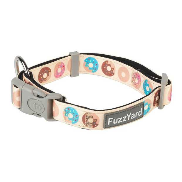 Let your buddy strut out in style with a little splash of fun with the FuzzYard Go Nuts Cream Dog...
