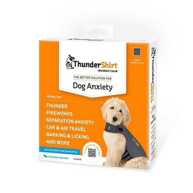 Thundershirt Dog Anxiety Jacket Grey is a fantastic, natural and drug-free way to manage your dog's...