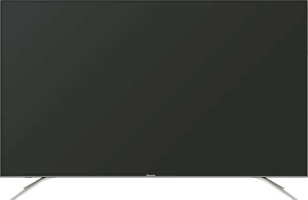 This Hisense TV's 65-inch screen helps you view images clearly without getting strained. It has an LED...