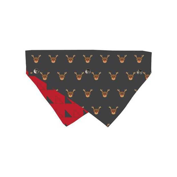 Fuzzyard Reversible Christmas Bandana for Dogs and Cats - Rudolph - Medium/Large