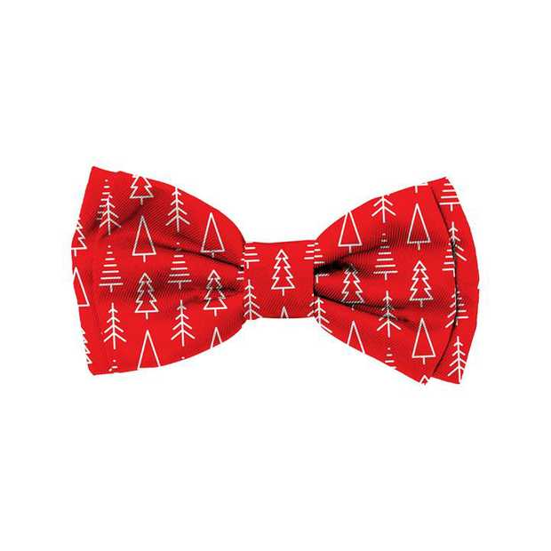 Fuzzyard Bowtie for Cats or Dogs - Festive Christmas Trees - Small