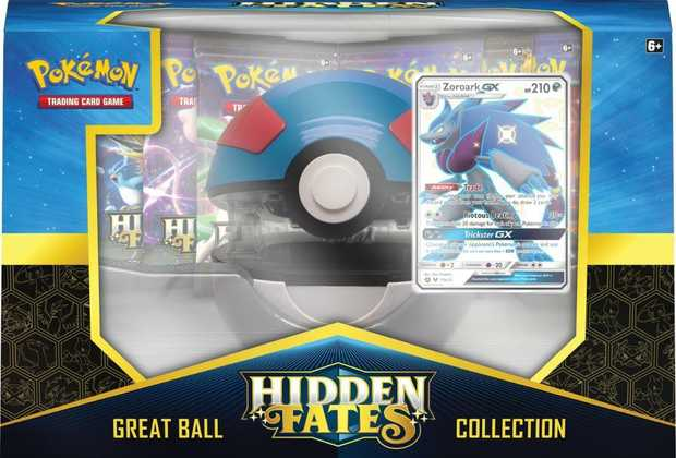 Pokemon Trading Card Game Hidden Fates Great Ultra Ball Assorted