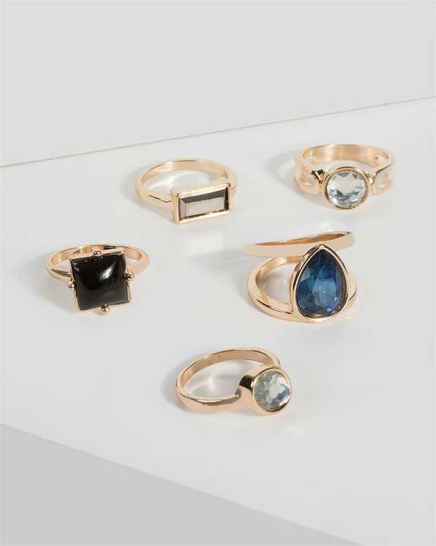 Part of our Nevada Navy collection Make a fashion statement with our stunning rings. This pack of 5...