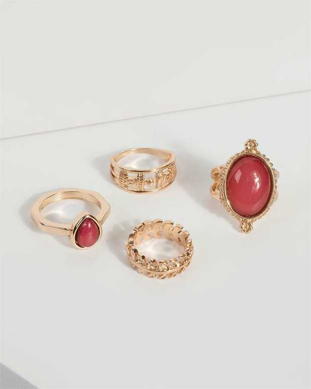 Part of our Comin in Hot collection Make a fashion statement with our stunning rings. This red rustic...