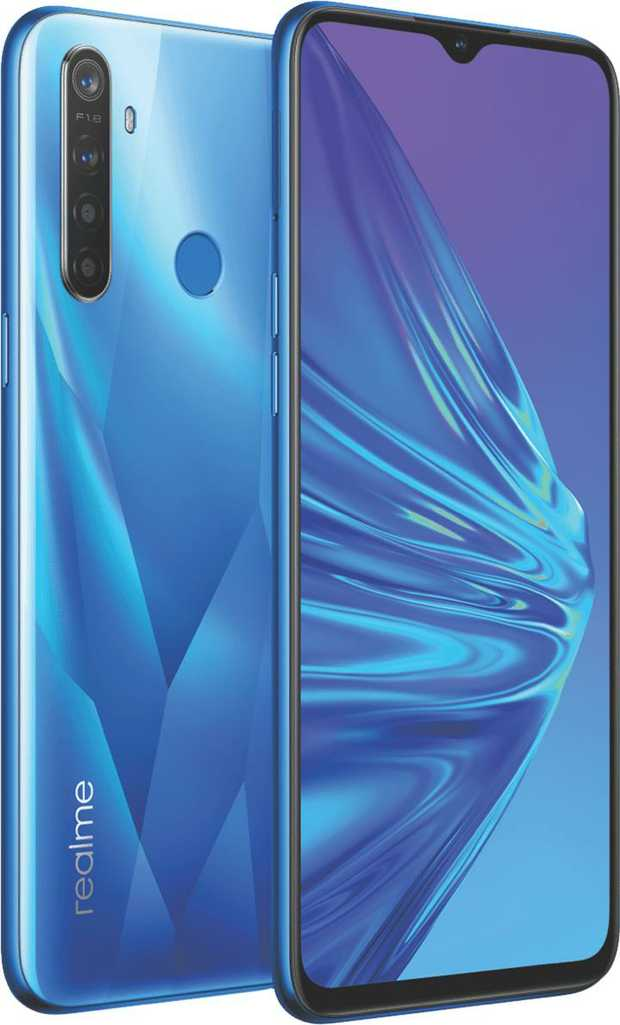 The power of four cameras in one lets you snap incredible pictures on the realme 5 phone RMX1911Blue...