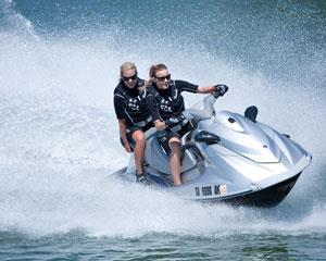 Jet Ski Adventure on the Gold Coast! Enjoy the magnificent homes of the Broadwater before jetting out...