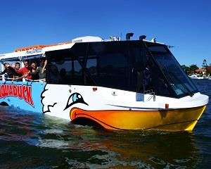 Experience the Gold Coast in a unique Aquaduck amphibious vehicle! Tour the cities iconic sites by road...