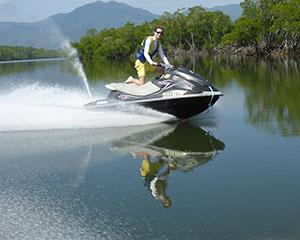Take it easy or let it rip on a guided 30 minute jet ski tour. Heading south down Trinity Inlet, take...