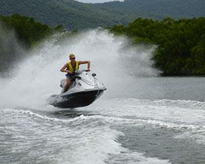 This is a complete adventure package on Cairn's Trinity Inlet! Rip it up on a 30-minute guided jet ski...