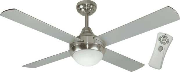 This Mercator ceiling fan's 1200mm blade diameter helps you take the temperature down several notches.