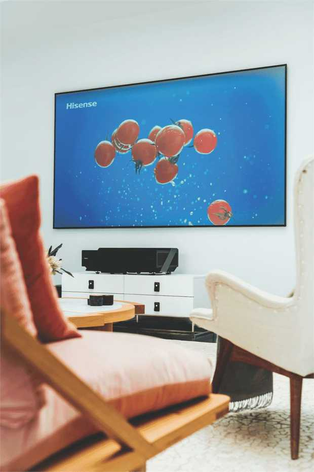 This Hisense TV has a 100-inch screen, so you can have a great view without being up close. It has an...