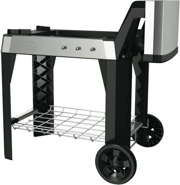 The wheels of the open cart give you the freedom to move your grill around as you please, and enable...
