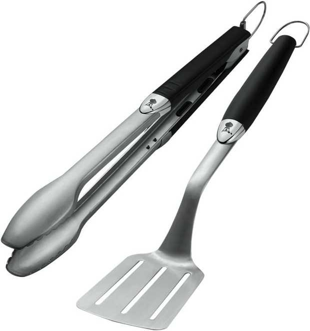 The latest design in barbecue tools. Each will perform its specific task with ease. Their handles have...