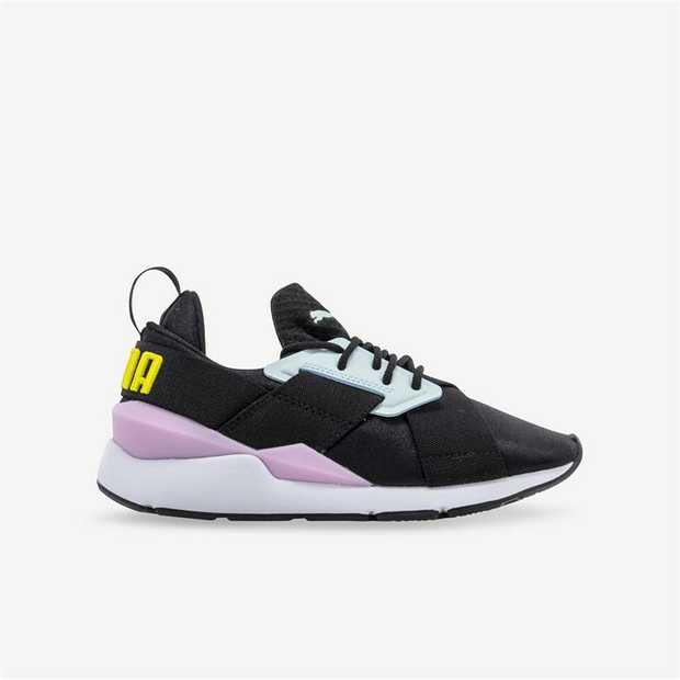 The Puma Muse features a new running-inspried silhouette. This iteration features a textile slip-on...