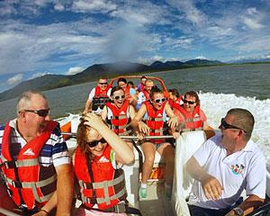 Experience Cairns at full throttle, with sea spray in your face and the sweet sound of a 700 horsepower...
