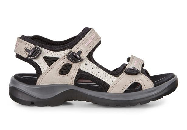 The Ecco Womens Offroad is a hiking sandal featuring adjustable straps, suitable for most foot types.