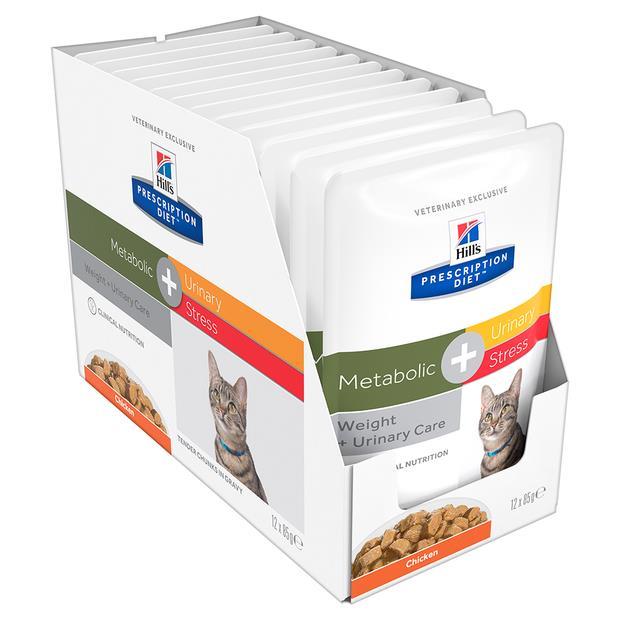 hills prescription diet metabolic plus urinary stress cat food pouches  12 x 85g   Hills Prescription...