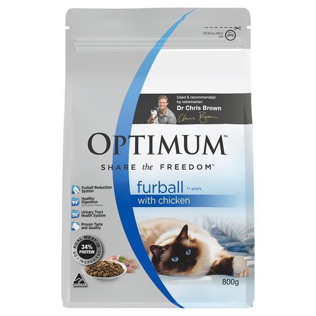 optimum furball dry cat food chicken  800g | Optimum cat food | pet supplies| Product Information:...