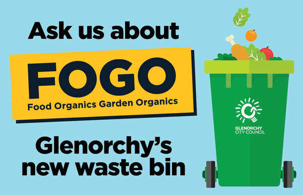 Over the next four weeks Glenorchy residents will receive a new wheelie bin called a FOGO bin (Food...