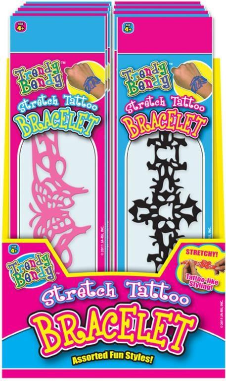Trendy Bendy Stretch Tattoo Bracelet- Assorted
