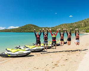 Satisfy your thirst for adventure as you jet ski around the stunning Whitsundays, heading to the...