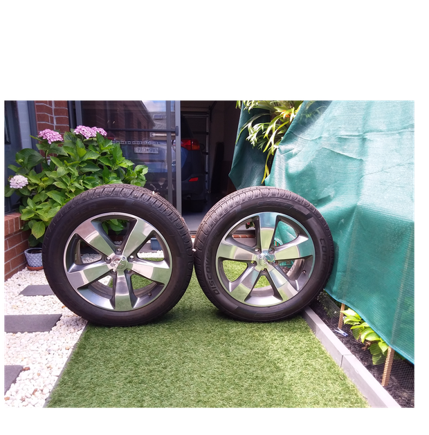 2 only WHEELS and  TYRES. TYRES are 265/50R20,  Cooper Discovery which have travelled less  than...