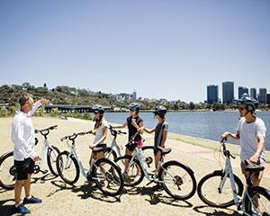 A chance to see the Instagram star of Perth, the Blue Boat Shed as we cycle along the South Perth...