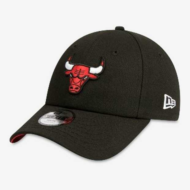 Chicago Bulls Youth 9FORTY cap features a black crown with a raised Chicago Bulls logo embroidered on...