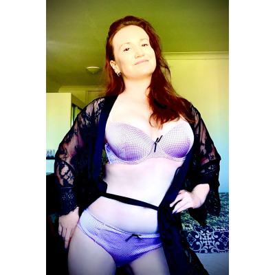 Here Today Avaliable now!        Natural redhead, size 10, pure white silken skin, pert C cup...