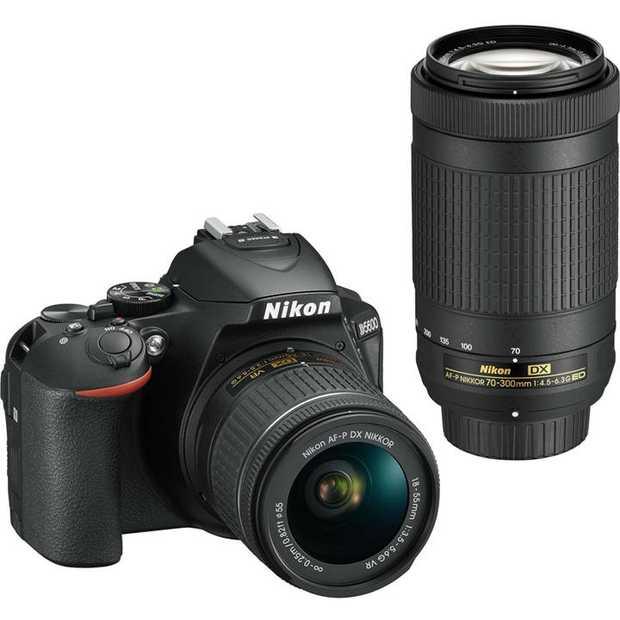 D5600 DSLR body NIKKOR 18-55mm f/3.5-5.6G VR lens NIKKOR 70-300mm f/4.5-6.3G ED VR lens 24.2 Megapixels...